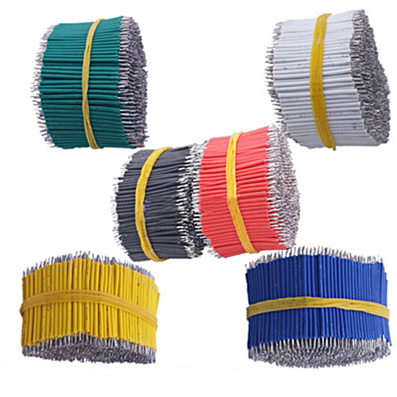 100Pcs/Set Tin-Plated Breadboard PCB Solder Cable 24AWG 8cm Fly Jumper Wire Cable Tin Conductor Wires 24AWG Connector Wire