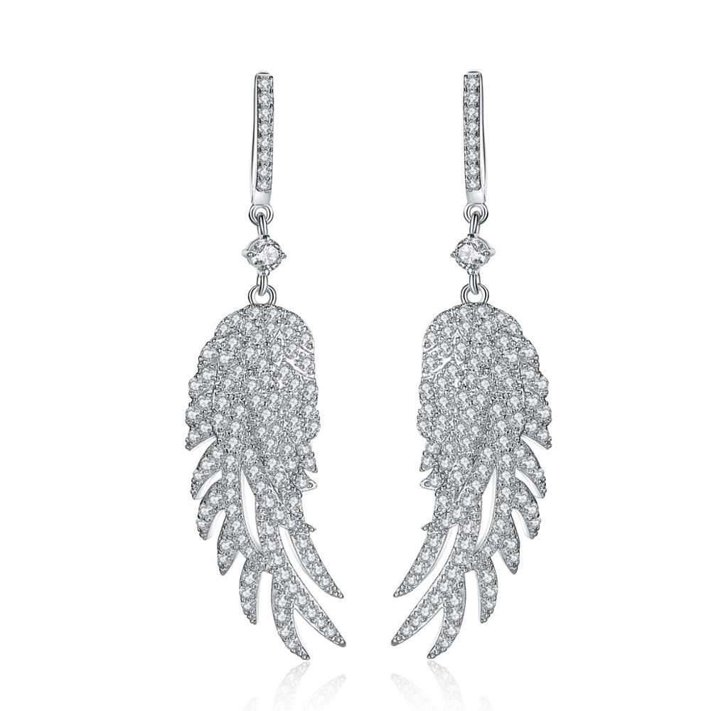 Модные ювелирные изделия, длинные висячие серьги, женские серьги с перьями и золотыми листьями, большие серьги для женщин, серьги 2020