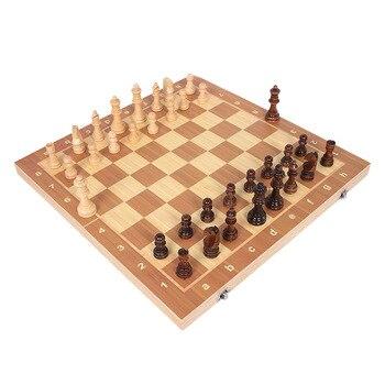 Jeu d'échecs classique en bois, haute qualité plateau magnétique en bois 39cm X 39cm 1