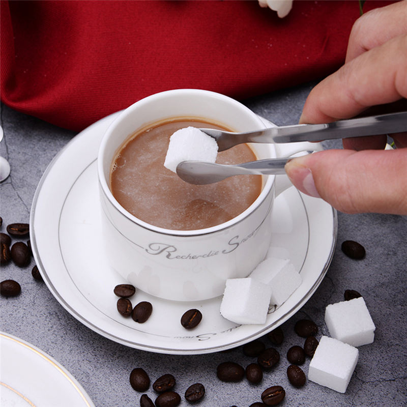 Coffee Sugar Clip Stainless Steel Tweezer Mini Clamp Tong Clips Coffee Ice Cube Little Tea Clips Teacup Clamp Kitchen Bar Tools