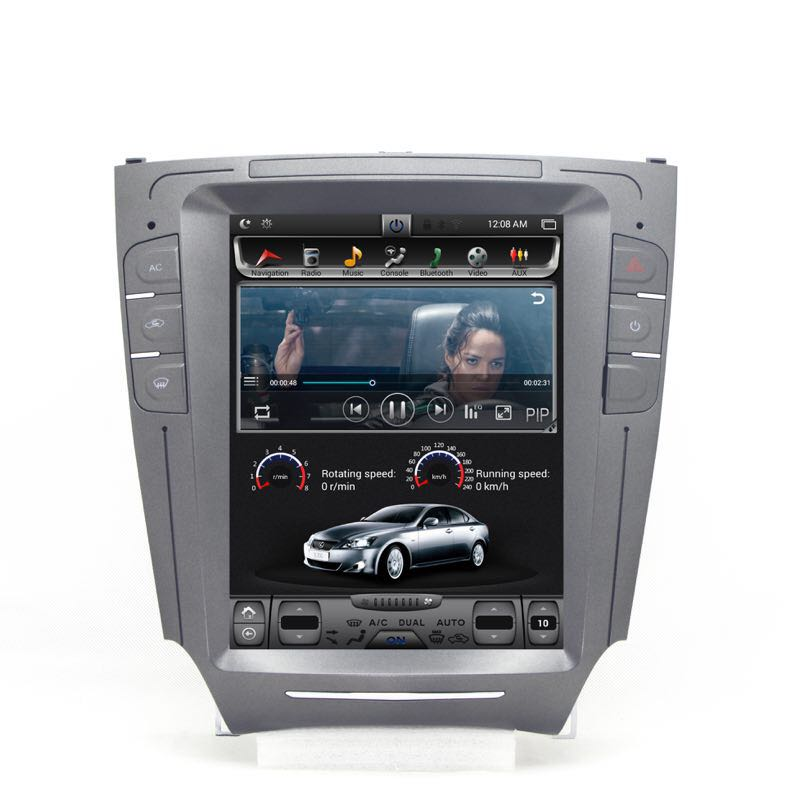 Chogath car multimedia player android 7.0 2+32G vertical screen car gps navigation 10.4 inch for Lexus IS250 2006-2012 image