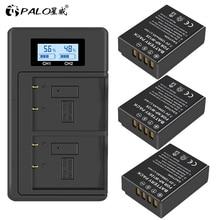 3Pcs 1200mAh NP-W126 NP W126 NPW126 Batteries&LCD Dual Charger for Fujifilm Fuji X-Pro1 XPro1 X-T1 XT1, HS30EXR HS33EXR X PRO1
