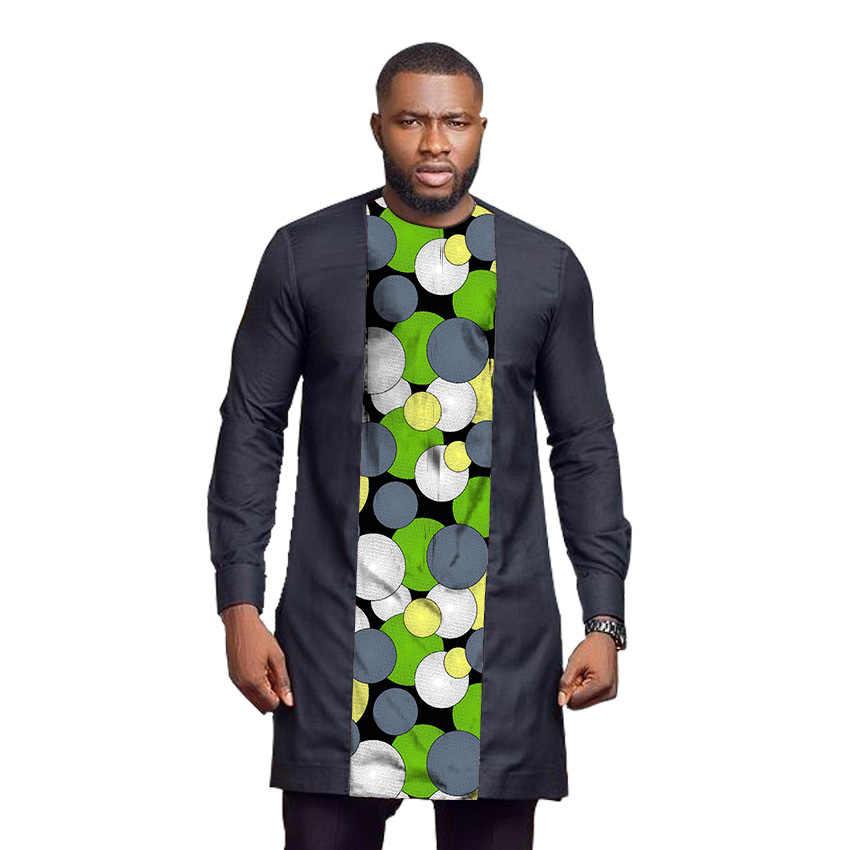 Senator Style Men S Shirt O Neck Tops Ankara Designs Black Print Patchwork Long Shirts Custom Made African Fashion Groom Shirts Aliexpress