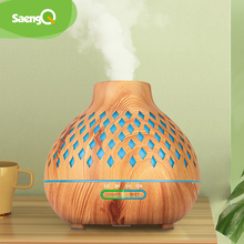 saengQ Electric Air Humidifier Ultrasonic Aroma Diffuser 400ML Remote Control Essential Oil Diffuser LED Cool Mist Maker Fogger