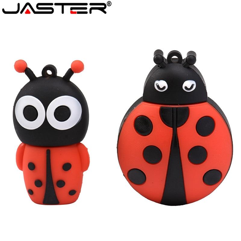 JASTER Cute CartoonAnimal Ladybugs Usb 4GB 8GB 16GB 32GB 64GB Pendrive USB Flash Drive Creative Gifty Stick Pendrive
