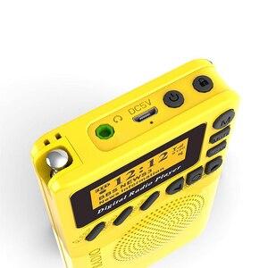 Image 3 - Novo bolso rádio portátil dab + rádio digital bateria recarregável rádio fm display lcd plug ue altifalante para o transporte da gota