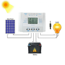 Charge-Controller MPPT Solar-Panel 80A Auto with Load-Timer 12-24v Lcd-Display