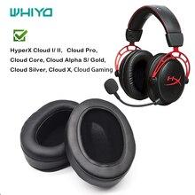 Whiyo zamienne EarPads dla HyperX Cloud I/ II, chmura alfa S/złoty, chmura srebrny, chmura Pro, chmura rdzeń, chmura X, gier w chmurze
