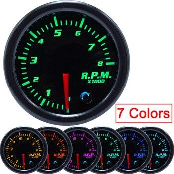 52 мм цифровой цветной ЖК-дисплей измеритель скорости одометр тахометр датчик скорости 7 цветов дисплей измеритель уровня масла аксессуары