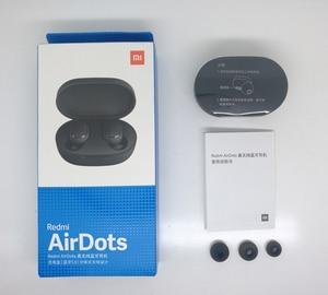 Image 5 - מהיר חינם Xiaomi Redmi Airdots TWS אלחוטי Bluetooth 5.0 אוזניות סטריאו בס עם מיקרופון דיבורית שליטת AI