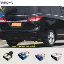 Para nissan quest 2011-2017 adesivos de carro capa silenciador exterior extremidade traseira tubo dedicar ponta escape cauda saída ornamento 1pcs