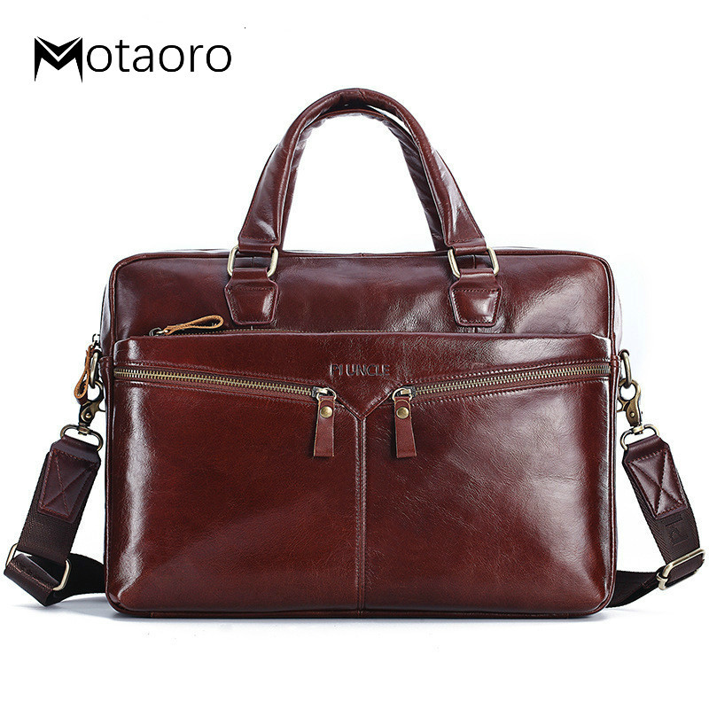 Genuine Leather Briefcases For Lawyers Briefcase Laptop Bag Cowhide Man Briefcase Computer Bag Cow Leather Men Bags Bolso Hombre