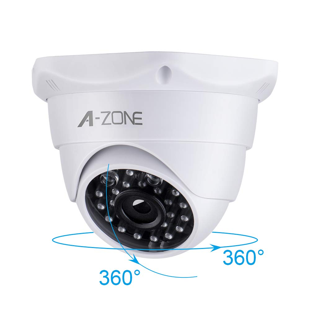 Dummy Fake Camera Home Simulation Surveillance Security CCTV Dome Mini Flashing LED Light White