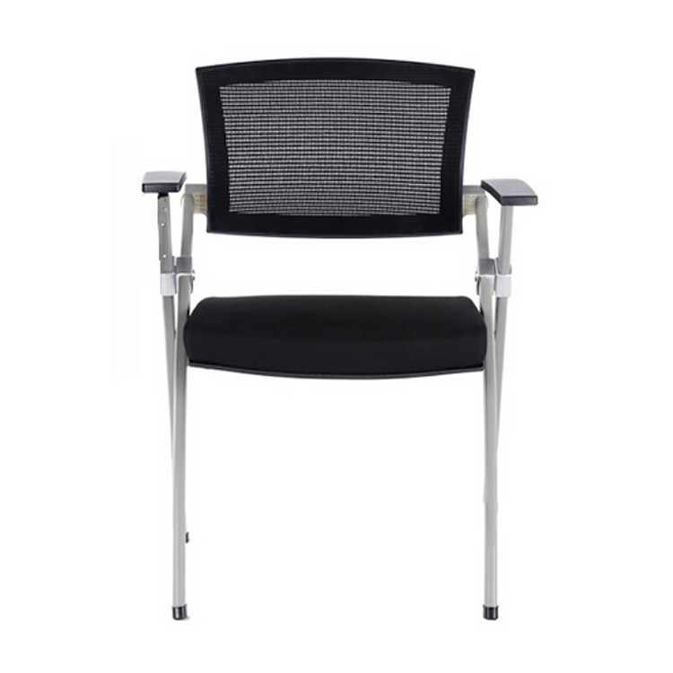 Staff Student Training Chair Full Folding Handrail With Writing Board Wheel Mobile Table Board One Office Meeting Chair