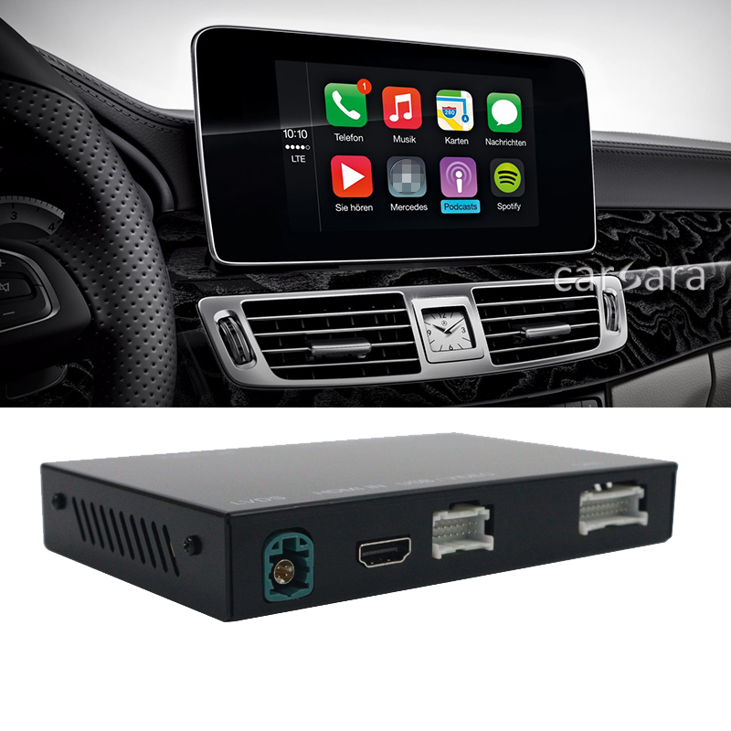 CLS Class W218 C218 comand head unit radio screen wireless apple carplay upgrade box car multimedia system android auto device title=