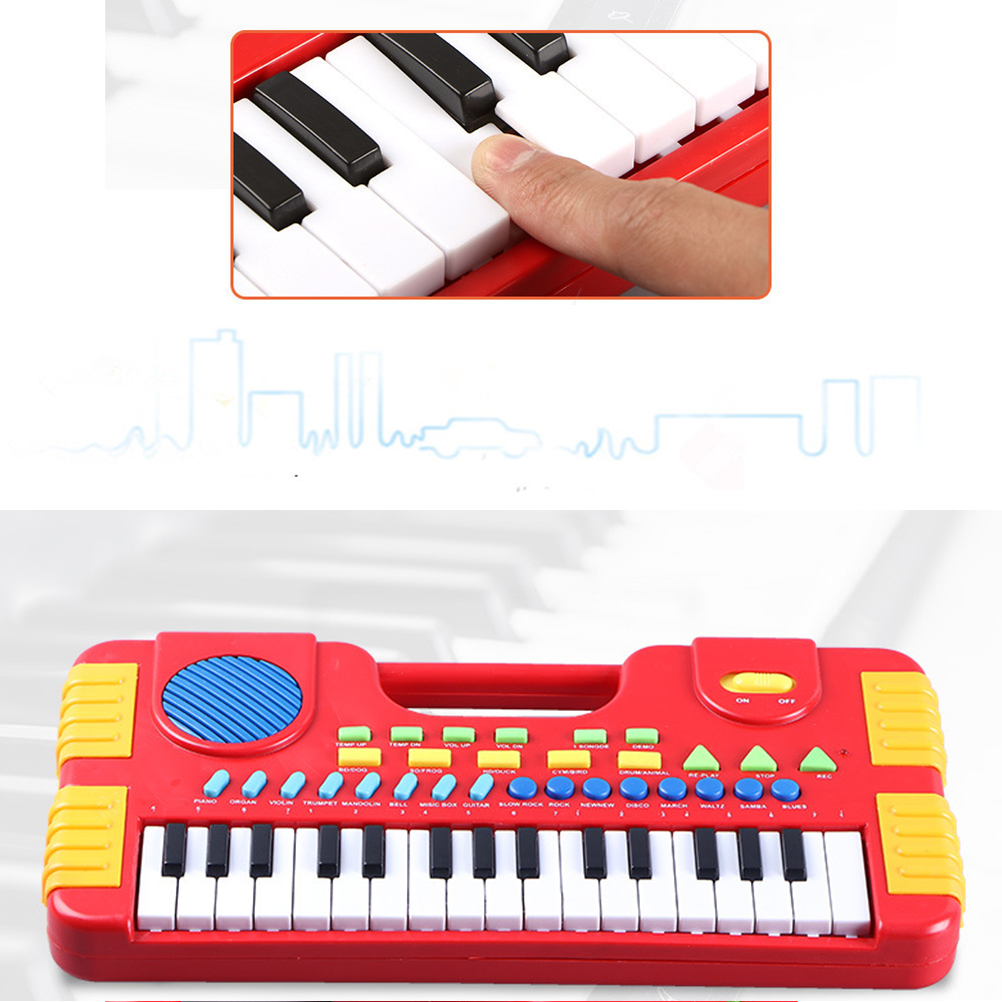 Kids Piano 31 Keys Mini Electronic Organ Musical Piano Teaching Keyboard For Educational Toys Kids Children Birthday 2 Colors