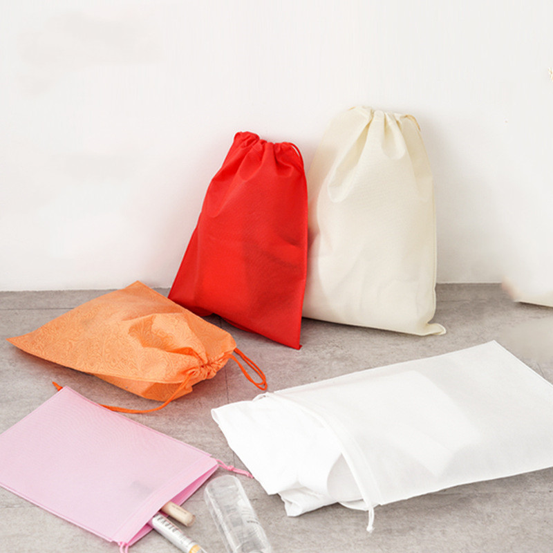 Non-woven Women Storage Bag For Clothing Shoes Bag Drawstring Bags Pocket Dust-proof Pouch Underwear Organizer Drawstring Bags