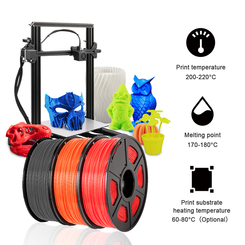lowest price 1 75mm 3D Printer Filament PETG 1KG With Spool SUNLU  Ordinary Brand PETG Filament 100percent No Bubblle 395M roll