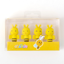 Erasers-Set Pencil Drawing-Supplies Gift Kids Mini Student School Yellow Bee Rubber