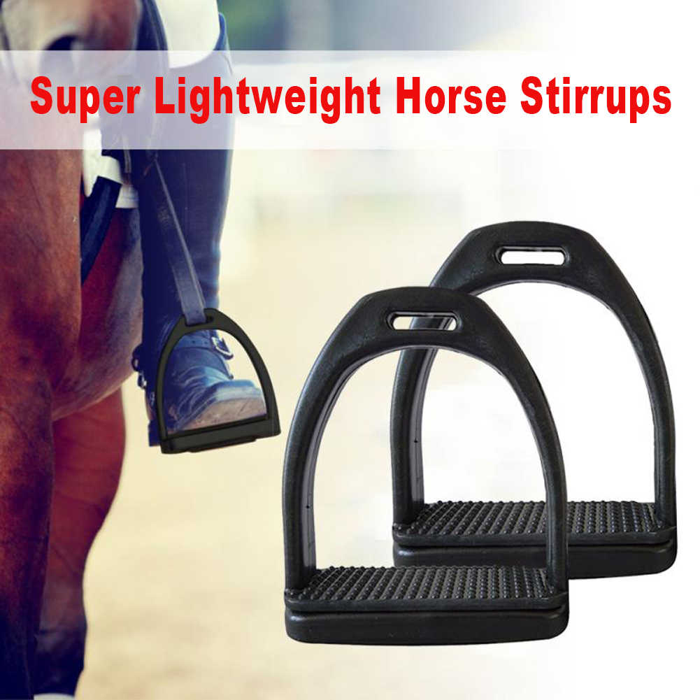 2 adet çocuk yetişkin güvenlik dayanıklı at biniciliği Stirrups için 2 boyutları at binici hafif geniş parça Anti kayma binicilik