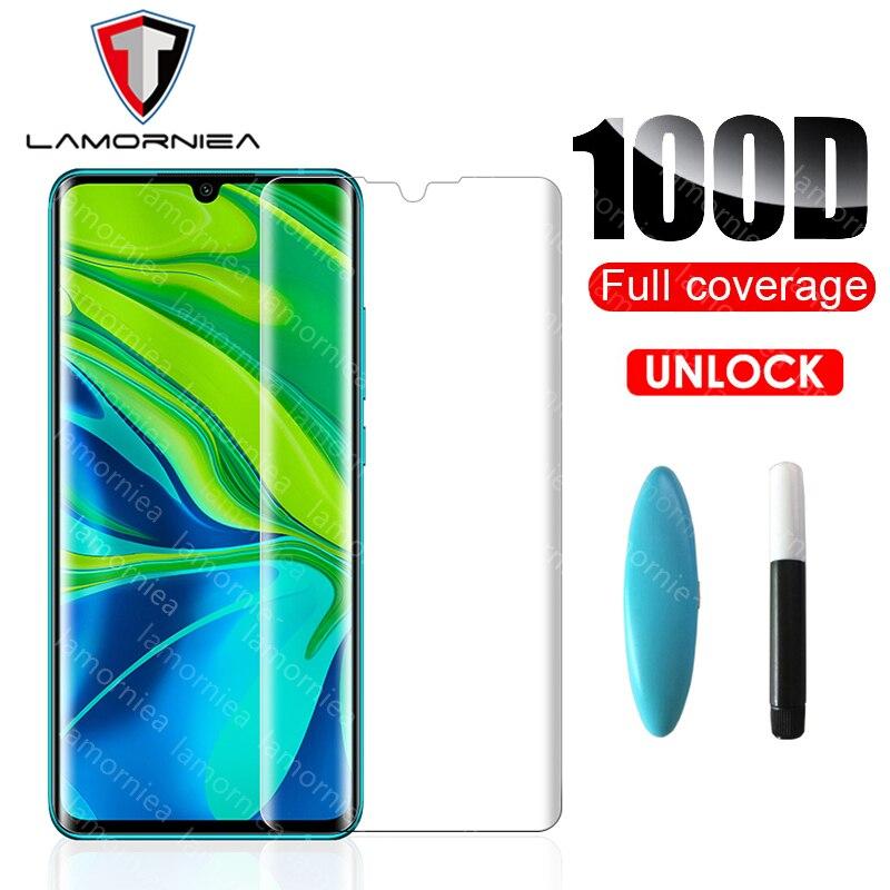 UV Full Tempered Glass For Xiaomi Mi CC9 Pro Note 10 Liquid Glue Screen Protector For Xiomi Note 10 Mi CC 9 Redmi Note 8 8T Pro(China)
