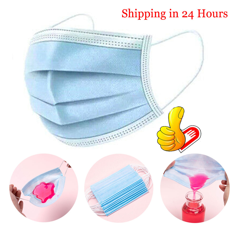 10/20/50/100pcs Disposable Mouth Face Mask Anti Haze Flu Air Polution PM2.5 Dust Mask Respirator Mascarilla Coronavirus 3 Layer