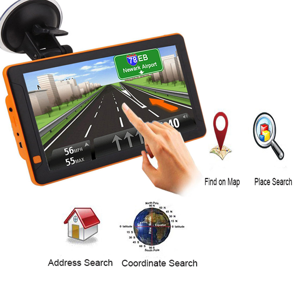 Capacitive-Screen Gps-Navigator Satellite 256MB 9inch Europe LCD HD Latest title=