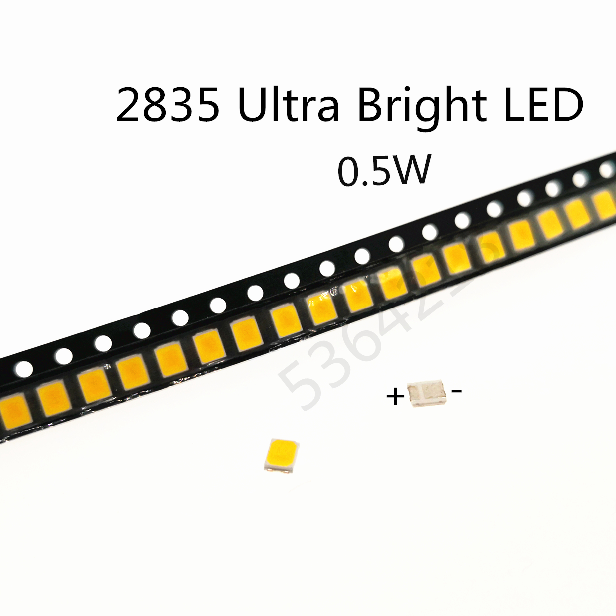 50pcs SMD LED 2835 1W 0.5W 3V 6V 9V 18V 36V 50-135LM Warm Cold White Ultra Bright Surface Mount PCB LED Light Emitting Diode