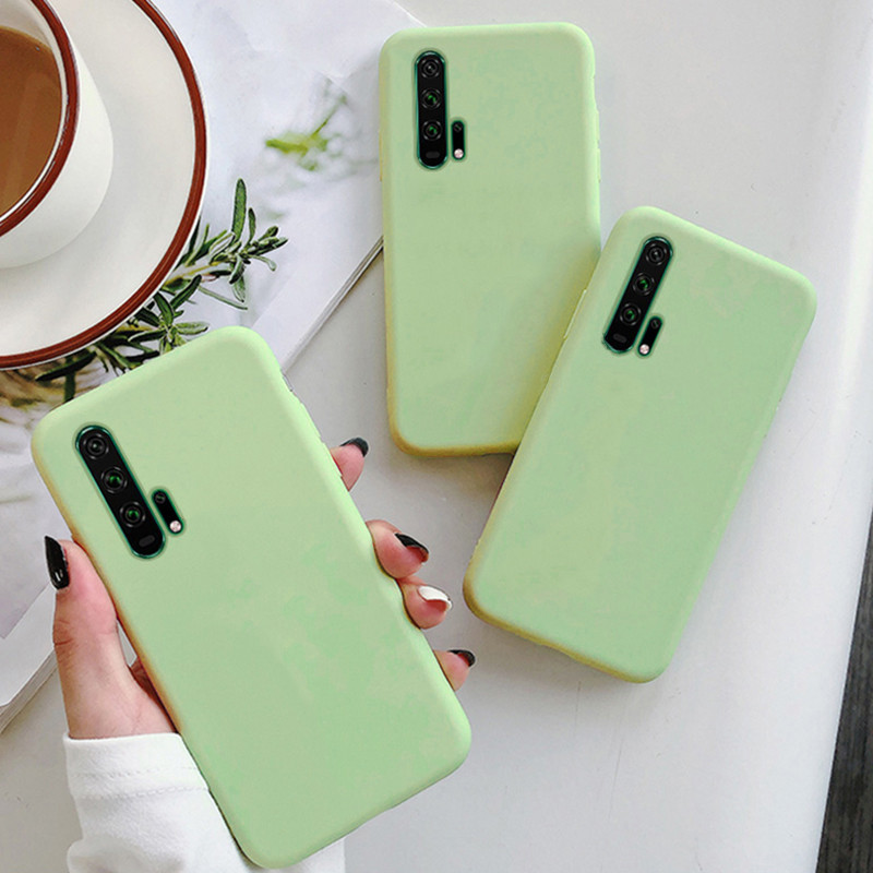 Solid Color Grass Green Case For Huawei <font><b>P</b></font> Smart Z P20 P30 Mate 20 <font><b>30</b></font> Honor View 10 20 <font><b>Lite</b></font> Pro 8X 9X 10i 20i Y9 Prime 2019 Coque image