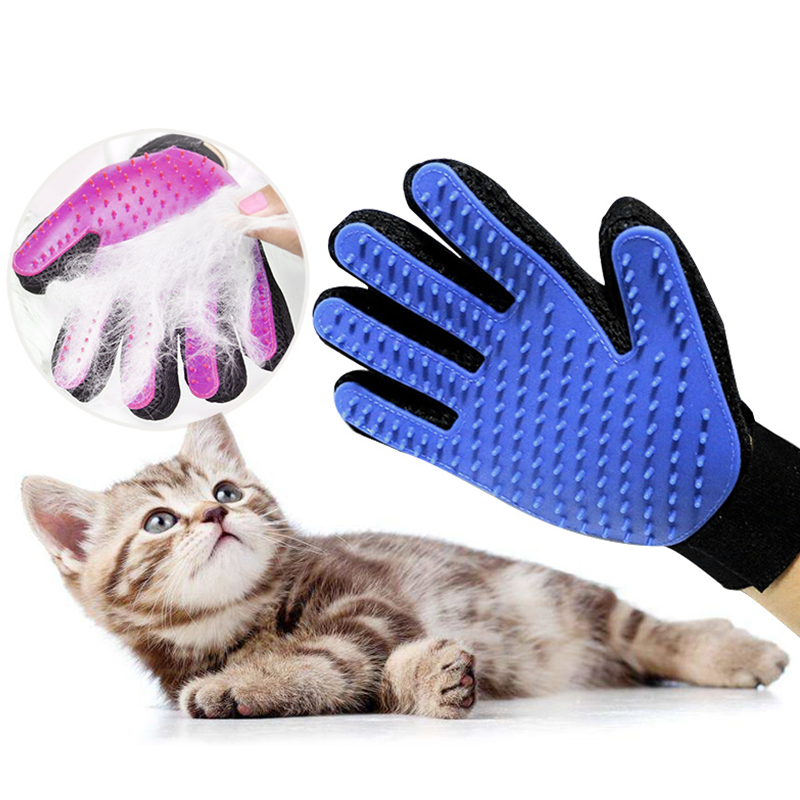 Pet Dog Grooming Glove Cat Hair Deshedding Brush Comb Glove Cleaning Massage Glove Hair Removal Mitts For Animal Cat Accessoies
