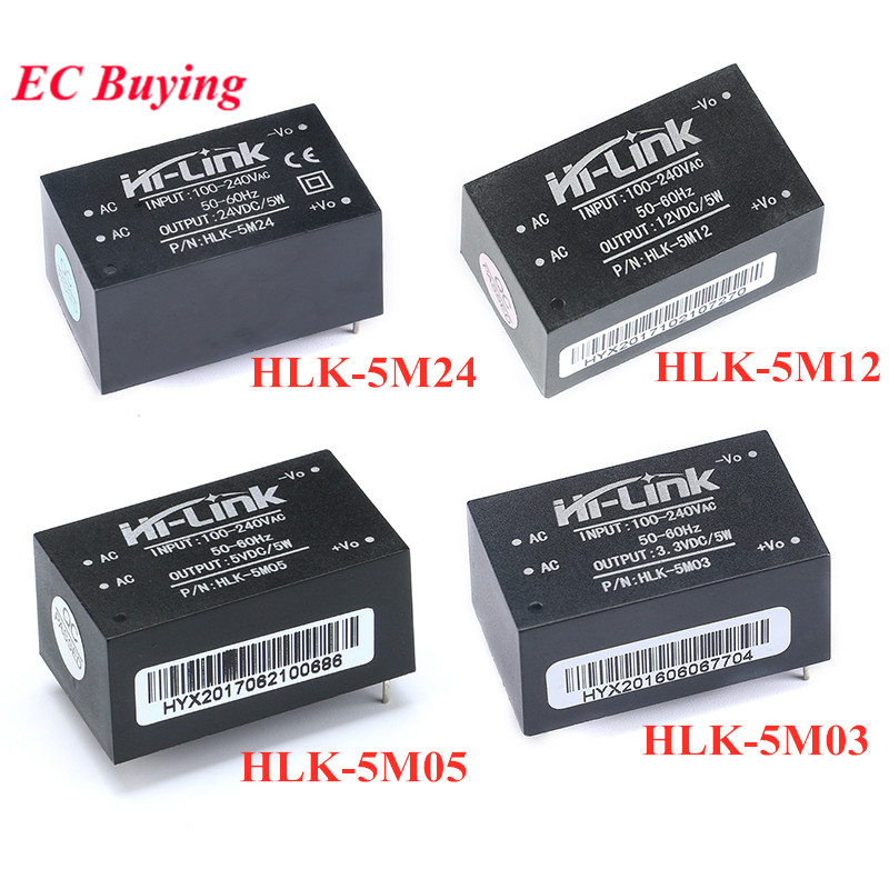 HLK-5M03 HLK-5M05 HLK-5M12 HLK-5M24 AC-DC 220V to 5V 3.3V 12V 24V 5W 5V700mA Power Supply Module AC DC Step Down Buck Module image