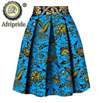 2020 women clothes AFRIPRIDE private custom skirt pure cotton ankara print dashiki bazin riche casual for S1827008
