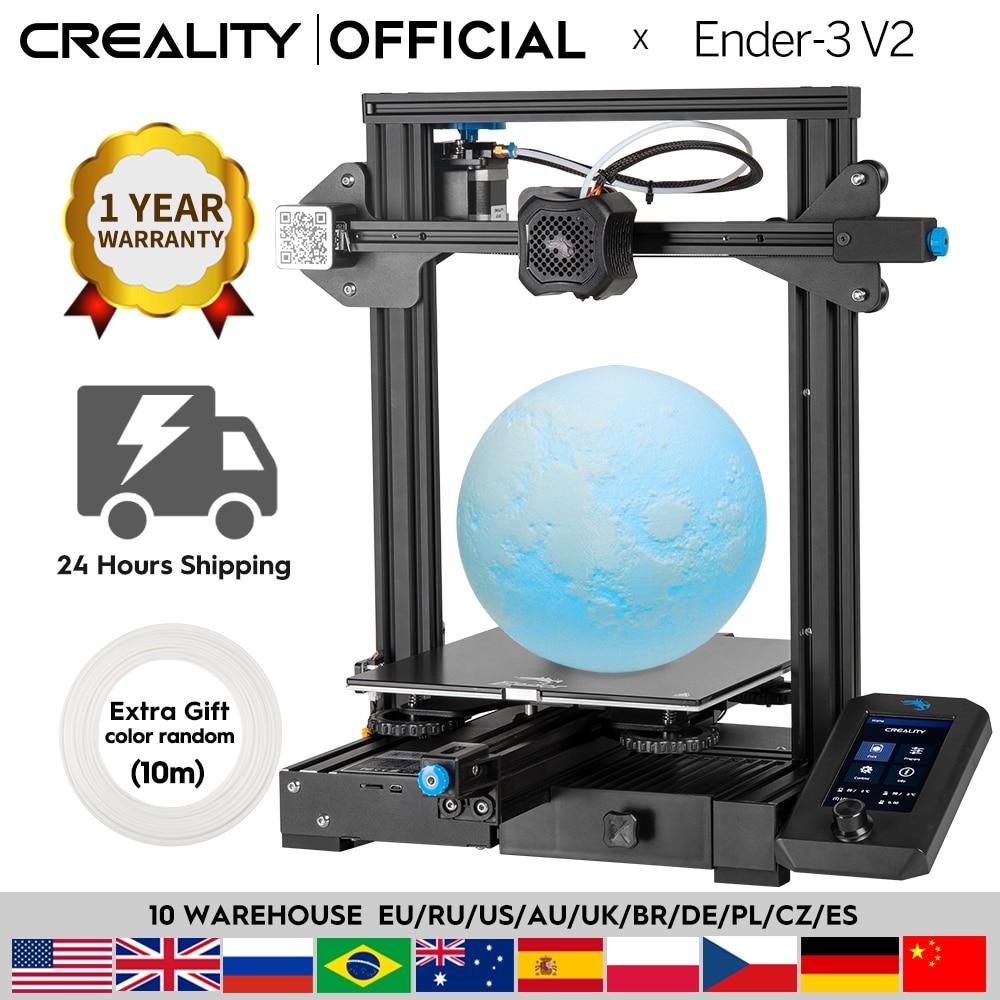 CREALITY 3D جديد Ender-3 V2 3D طابعة