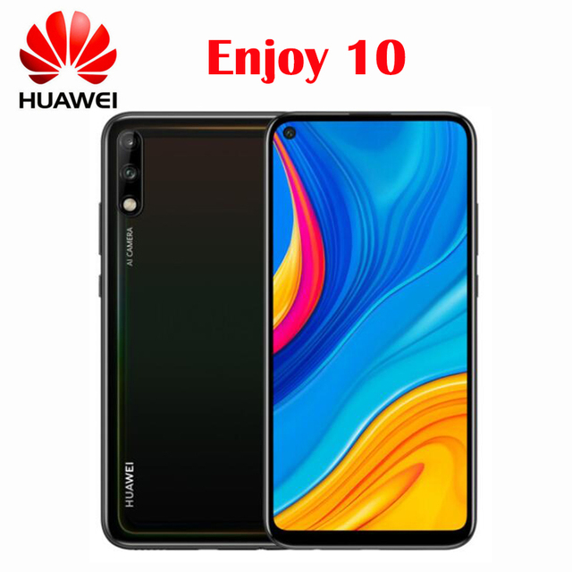 Google play Official New Original Huawei Enjoy 10 Smartphone Rear Camera 48MP AI Camera 6.39inch Kirin 710F Octa core 4000mAh