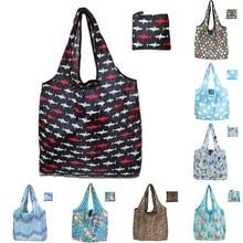 À prova deco-friendly água eco-amigável dobrável à moda mochilas de compras sacola de armazenamento dobrável