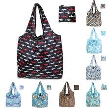 Stylish Foldable Shopping Bag Reusable Eco-friendly Waterproof Shopping Backpacks Tote Grocery Foldable Storage Bag Shopper bag