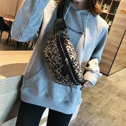 Winter bag female 2020 new ins hot retro fashion classic wind casual leopard chest bag simple wide shoulder strap waist bag