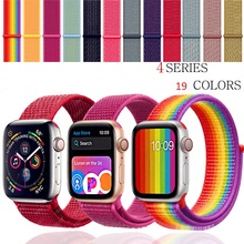 Strap For Apple Watch band Apple Watch 4 44mm 40mm 3 iwatch band 42mm 38mm Sport Loop correa Nylon loop bracelet Watchband все цены