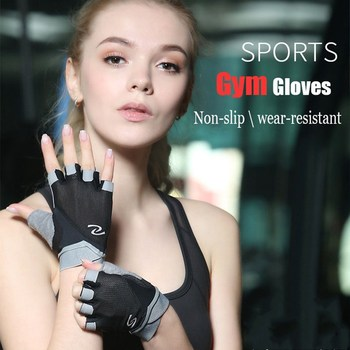 Professional Gym Gloves Women Weight Lifting Crossfit Workout Fitness Gloves Breathable Bodybuilding Half Finger Hand Protector 2