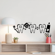 Dental Care Hot Sale Wall Sticker Vinyl Dentist Sign Door Window Decals Home Bathroom Decor Art Mural Poster Tooth Decal(China)