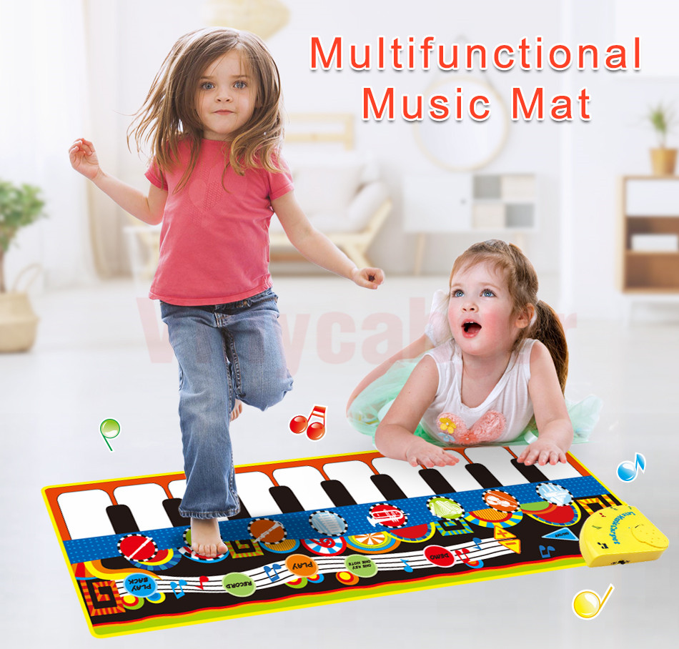 H3601a9ca444f4ba6a9ef0452c424189bH 110x36cm Musical Piano Mat Baby Play Mat Toy Musical Instrument Mat Game Carpet Music Toys Educational Toys for Kids Xmas Gift