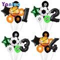 7 шт./лот, вечерние футбольные шары, баскетбольные шары для дня рождения, Детские вечерние шары для душа, Globos Cumpleanos Infantiles