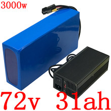 72V Battery 72V 20AH 22AH 25AH 30AH Lithium Scooter Battery for 72V 2000W 2500W 3000W Electric Bike Battery Motor+84V 5A Charger(China)