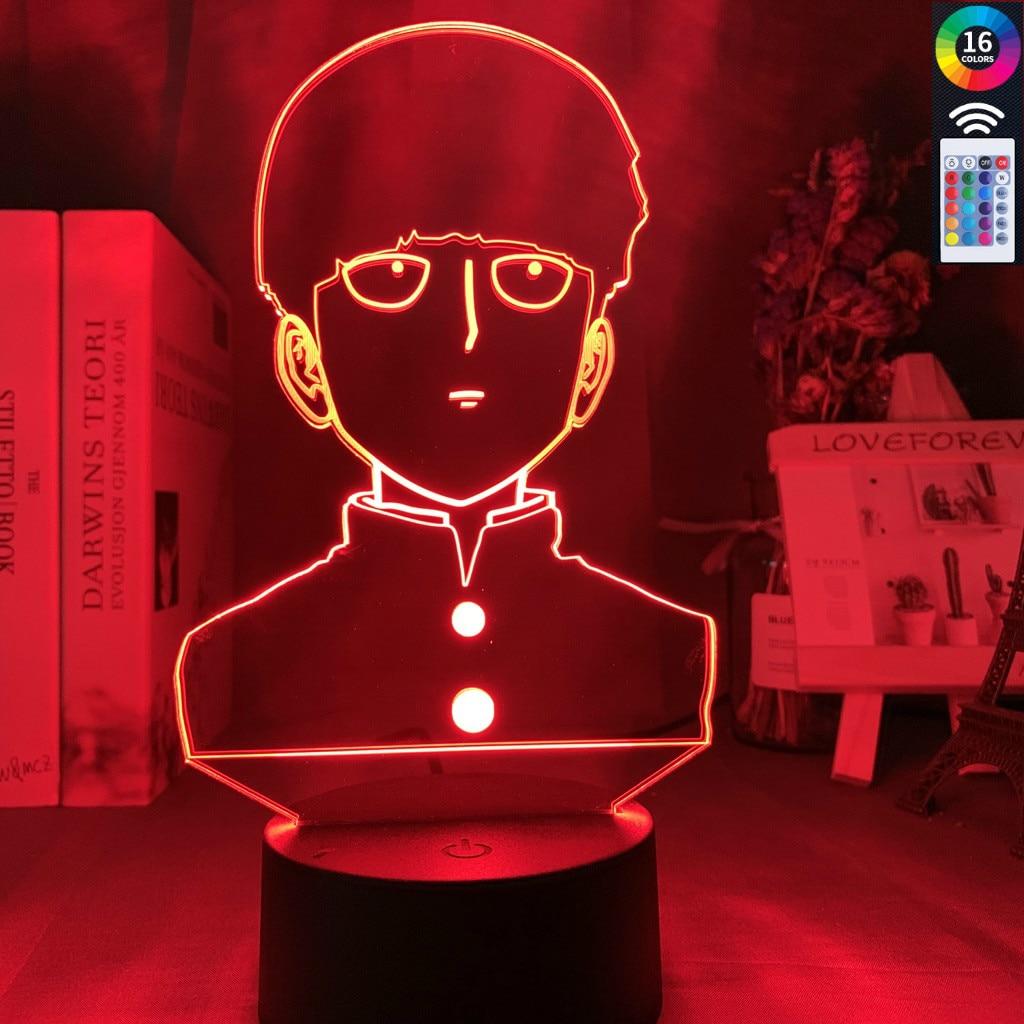 3D Illusion Lampe Led Nachtlicht Anime Mob Psycho 100 Shigeo Figur F/ür Kinder Kinderzimmer Dekorative Atmosph/äre Bunte Usb Tischlampe Geschenk Das Beste Geschenk F/ür Kinder
