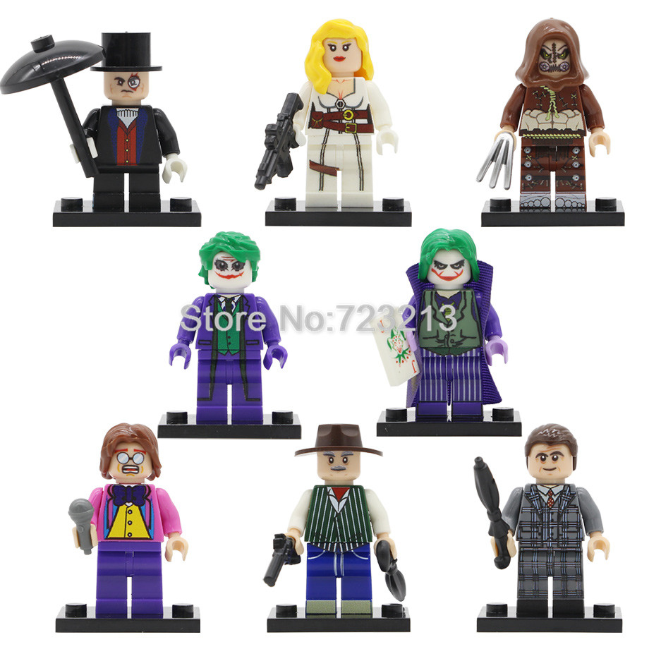 Movie Al Pacino Elton John Figure Super Hero Joker Sharon Carter Scarecrow Penguin Building Block Models Brick Kit Toys Legoing