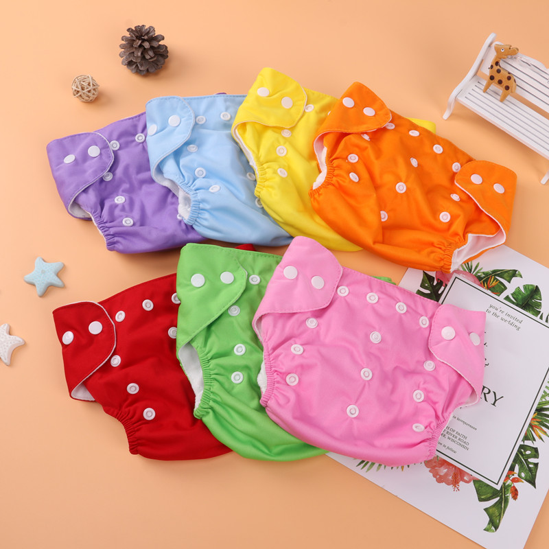Baby Diapers Washable Reusable Nappies Grid/Cotton Training Pant Cloth Diaper Baby Fraldas Winter Summer Eco-friendly Diapers