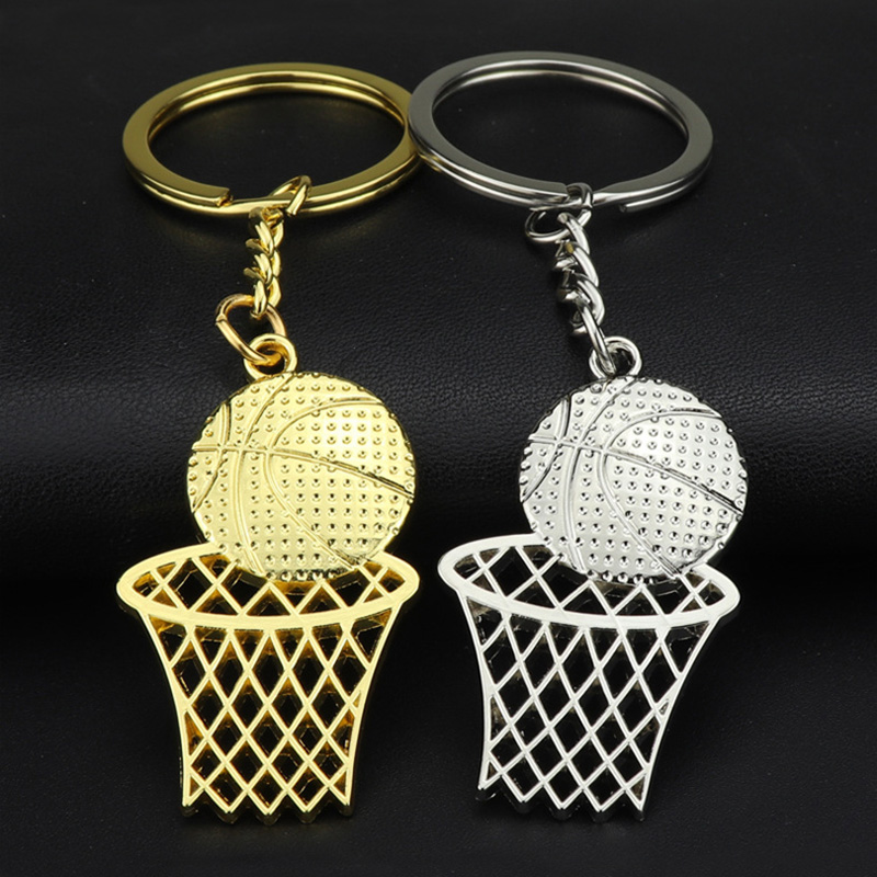 Уникальный дизайн, металлический баскетбольный брелок игрока, школьная команда, промо, ретикулярный баскетбольный обруч, брелок золотого и...