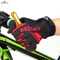 TOPTETN Winter Cycling Gloves Long Finger Mtb Warm Touch Screen Full Finger Gloves Windproof Gloves For Men Bicycle Accessories