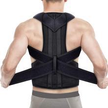 Aptoco Corrector de postura espalda postura Brace clavícula soporte dejar de encorvarse y encorvarse espalda ajustable entrenador Unisex