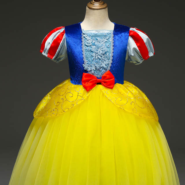 518 40 De Descuentovestidos De Halloween Para Niñas Reina Blancanieves Disfraz Cosplay Elsa Rapunzel Niños Princesa Ropa De Fiesta Vestidos On